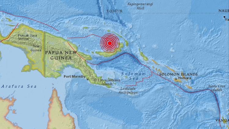 Un sismo de magnitud 6,9 sacude Papúa Nueva Guinea