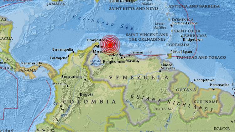 Un sismo de magnitud 5,5 sacude las costas de Venezuela