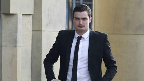 Adam Johnson llega a la corte en Bradford, Reino Unido, el 29 de febrero de 2016.