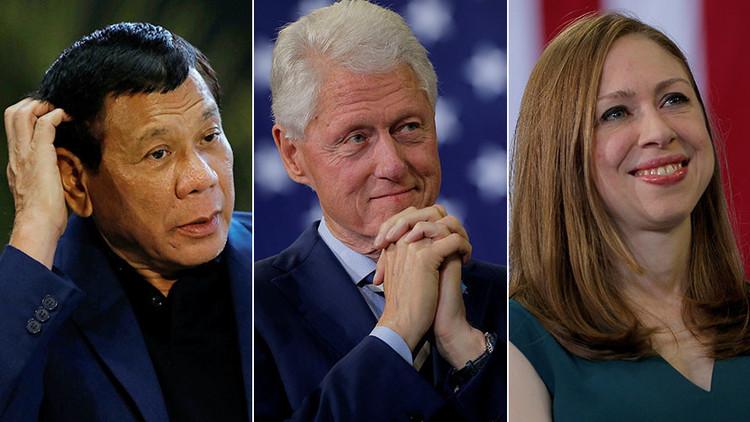 "Duterte a Chelsea Clinton: ""Cuando tu padre se acostaba con Lewinsky, ¿le golpeaste?"""