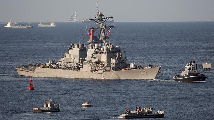 El USS Fitzgerald de EE.UU. continuó su curso a pesar de las advertencias del buque mercante