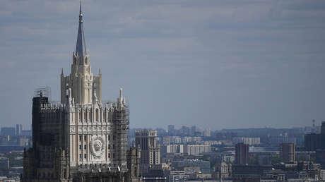La sede de la Cancillería rusa en Moscú