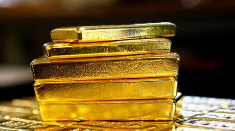 Oro en la planta de separación de oro y plata Oegussa (Viena, Austria), el 18 de marzo de 2016.