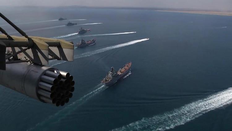 La Flotilla del Caspio de la Armada rusa, en estado de alerta