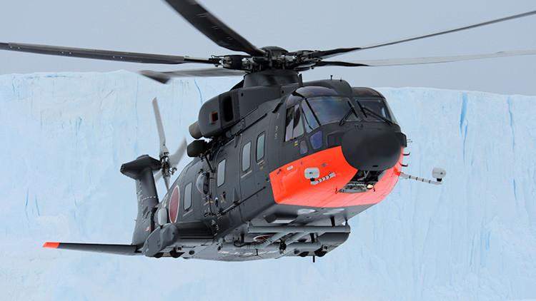 Foto: Se estrella un helicóptero de la Fuerza Marítima de Autodefensa de Japón