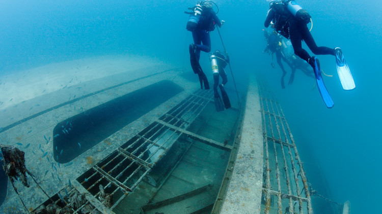Hallan en Rusia un buque de la Segunda Guerra Mundial de origen desconocido
