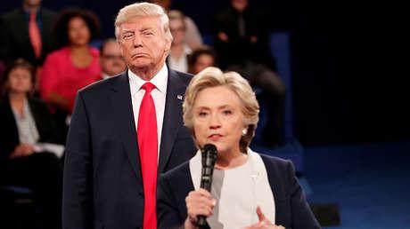 El republicano Donald Trump y la demócrata Hillary Clinton en San Luis, Misuri (EE.UU.), el 9 de octubre de 2016.