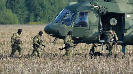 Militares bielorrusos en la región de Maguilov, el 25 de agosto de 2017.