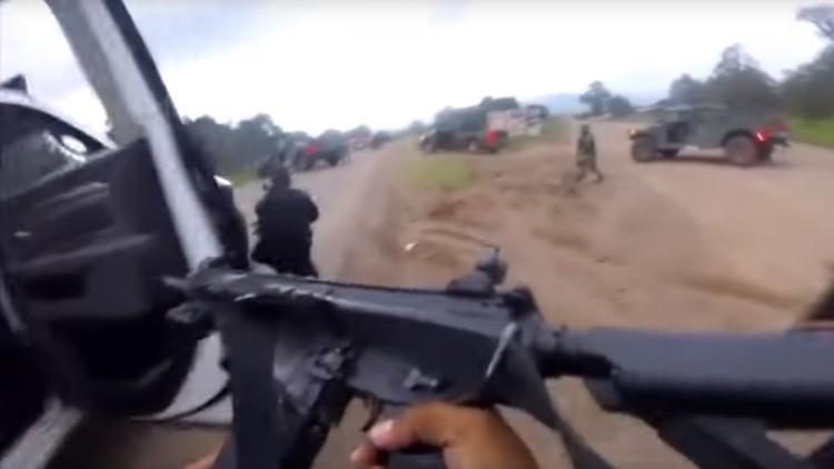 VIDEO: Feroz enfrentamiento entre delincuentes y la policía en México