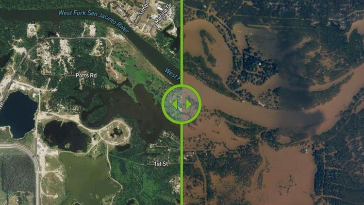Texas, antes y después de Harvey: Fotos aéreas recogen los terribles efectos del huracán
