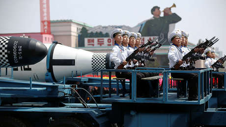 Un desfile militar en Pionyang