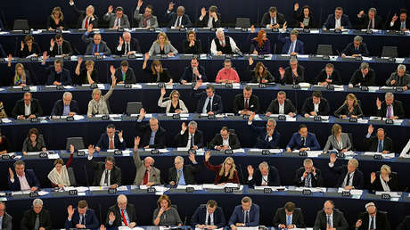 Votación en el Parlamento Europeo del acuerdo de libre comercio entre la UE y Canadá (CETA), el pasado 15 de febrero