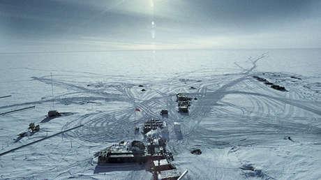 La estación antártica Vostok en los años 1970