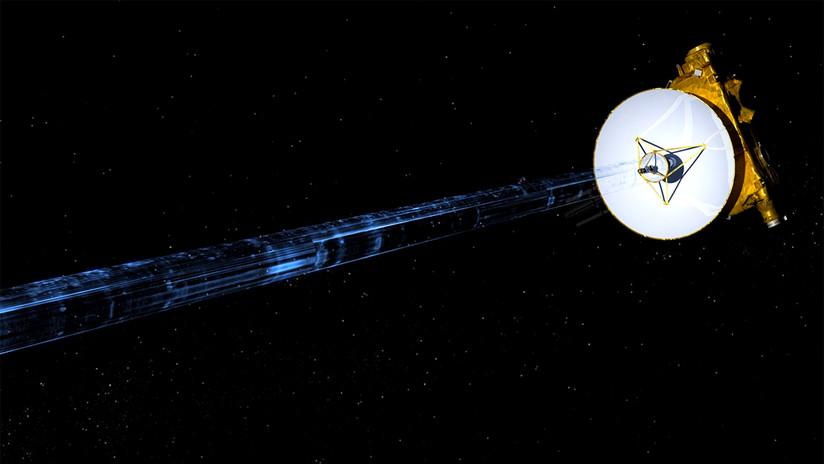 Representación artística de la nave espacial New Horizons.