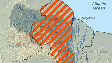 Área rayada en naranja constituye la zona de reclamación . 23 de diciembre de 2010
