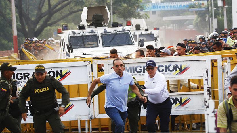 VIDEOS: Momento cuando militares venezolanos cruzan con tanquetas hacia Colombia atropellando gente