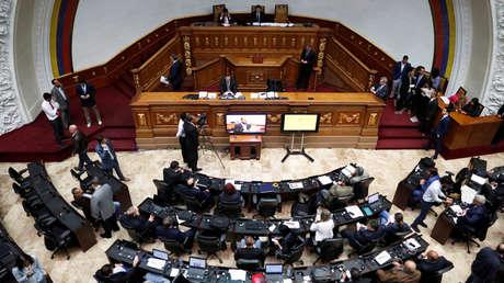 Sesión de la Asamblea Nacional en Caracas, Venezuela, el 29 de enero 2019.
