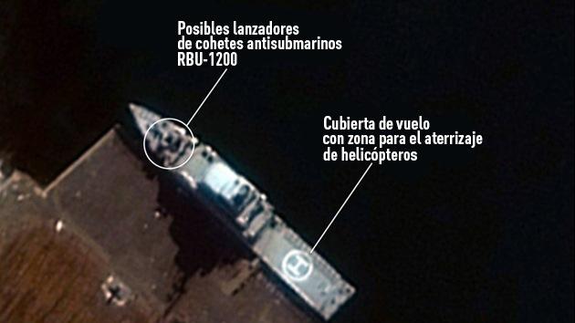 EE.UU. difunde imágenes vía satélite de dos nuevos buques de guerra de Corea del Norte