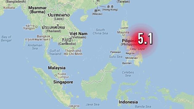 Un sismo de magnitud 5,1 sacude Filipinas