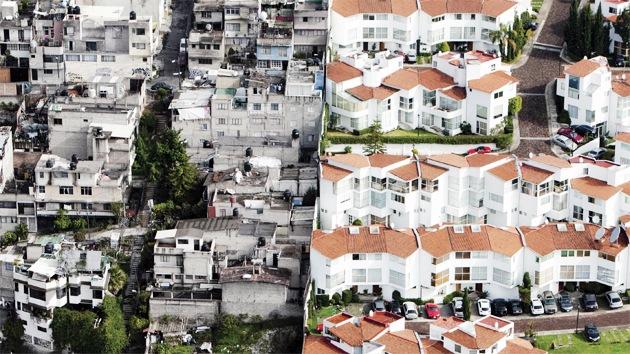 México: fotografías aéreas muestran abismal división entre ricos y pobres