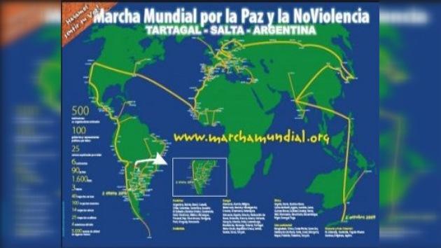 La Marcha Mundial por la Paz y la No Violencia llega a su fin en Argentina