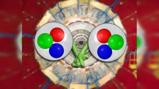 Partículas nucleares se emparejan en el Gran Colisionador