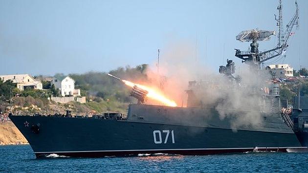 La Flota del Mar Negro rusa quintuplica la intensidad de sus prácticas de combate