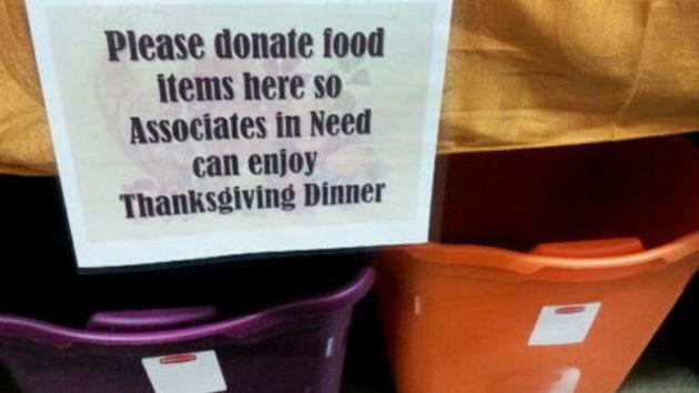 Walmart pide a sus clientes que donen comida para sus propios empleados