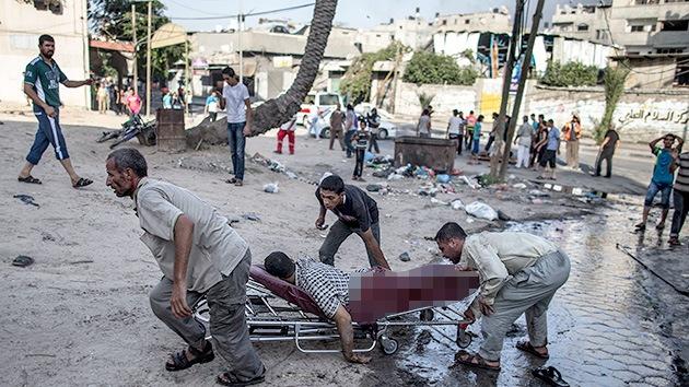 FUERTES IMÁGENES: Cámara capta el bombardeo israelí contra un mercado en Gaza