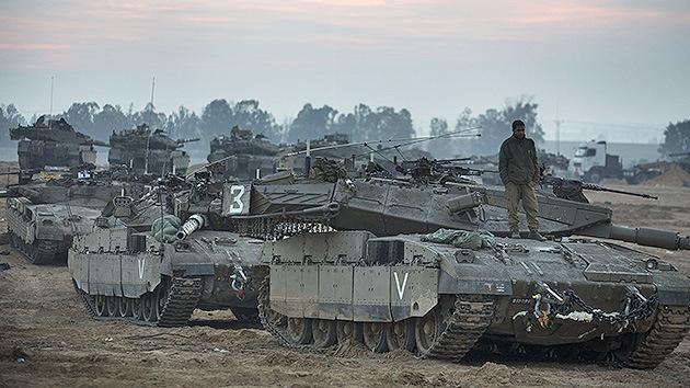 Buldóceres y tanques israelíes entran en la Franja de Gaza
