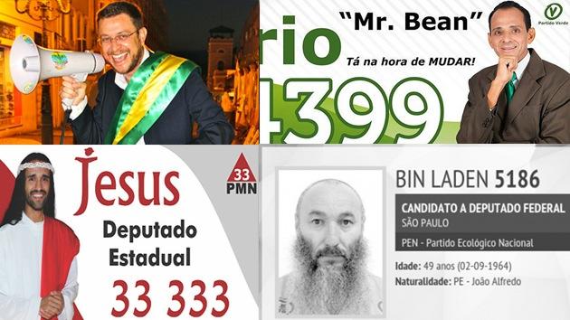 'Bin Laden', 'Cara de Hamburguesa'…y otros candidatos de Brasil con nombres insólitos