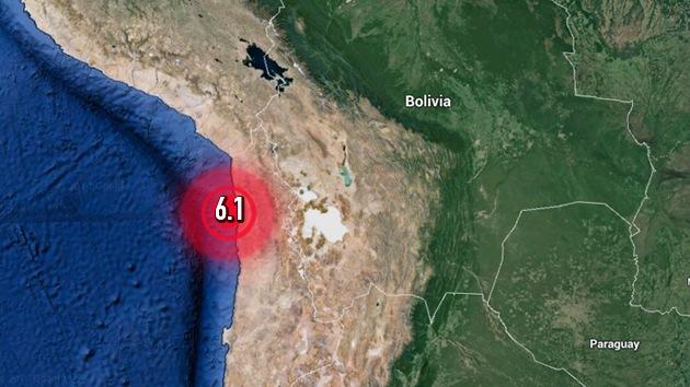 Sismo de magnitud 6,1 sacude la costa chilena