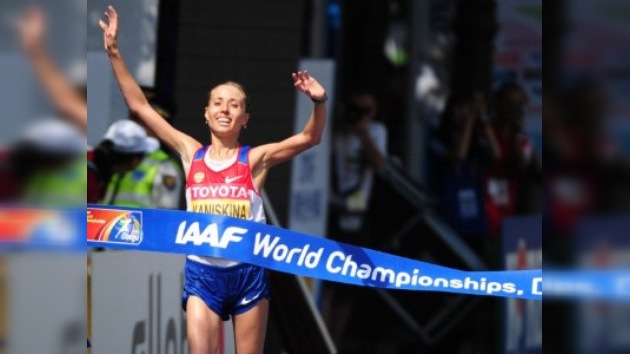 Olga Kanískina, tricampeona mundial en los 20 km marcha