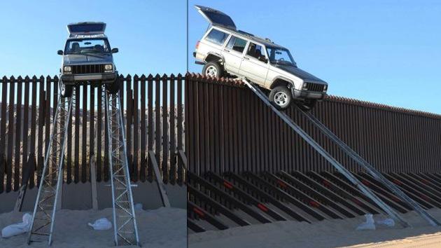 Video: Intento fallido de 'saltar' la valla fronteriza entre México y EE.UU. en camioneta