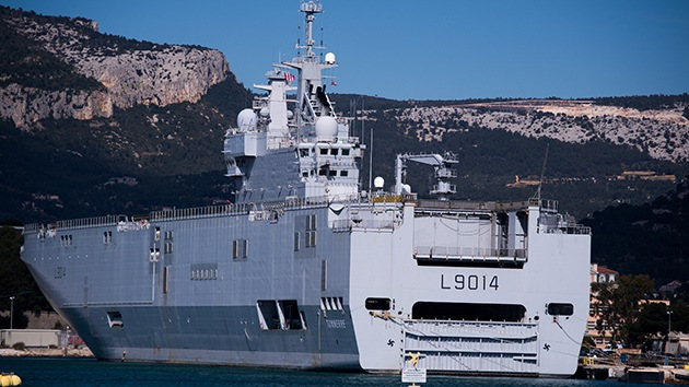Francia inicia las pruebas del primer buque Mistral vendido a Rusia