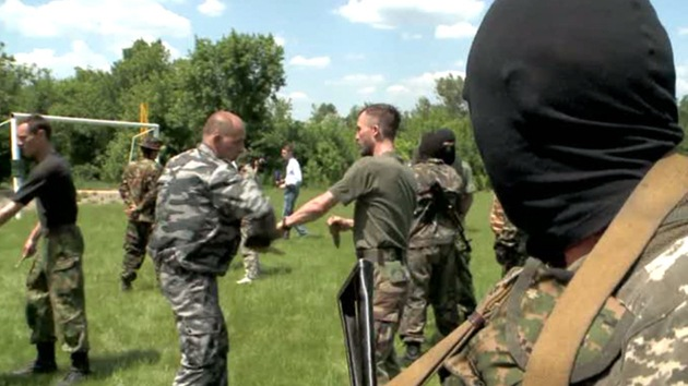 Fotos: Las autodefensas en el este de Ucrania gestionan bases secretas de entrenamiento