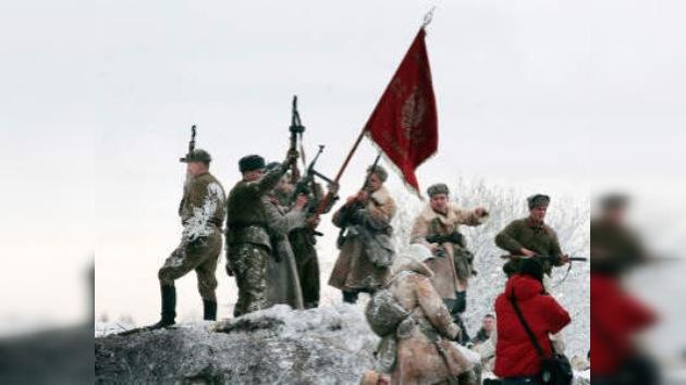Reconstrucción histórica de batalla en Leningrado