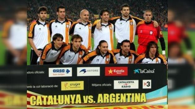Cataluña venció a Argentina en partido amistoso en Barcelona