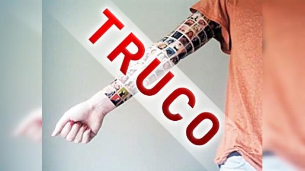 El tatuaje de 152 amigos de Facebook en el brazo fue un truco publicitario