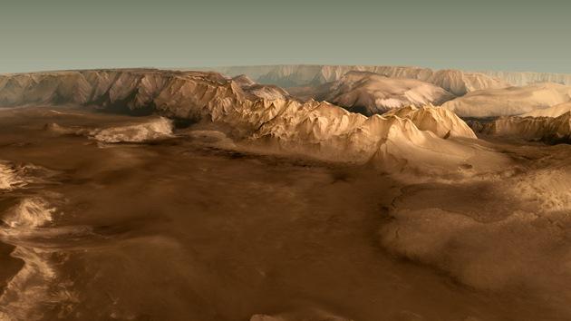 Video: Los astrónomos reconstruyen un impresionante vuelo sobre Marte