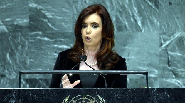 Cristina Fernández habla en la ONU