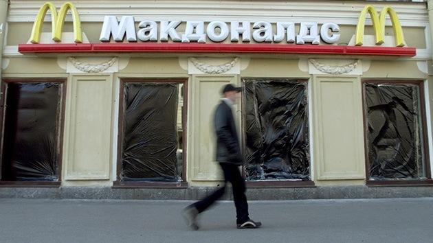 Cruzada popular contra McDonalds en Rusia: Manifestantes piden su salida del país