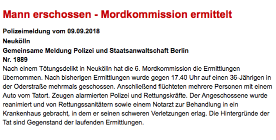 Jahriger In Berlin Neukolln Durch Schusse Getotet Polizeiaufgebot Vor Klinik