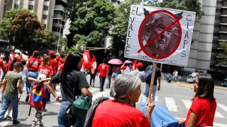 Anhänger der venezolanischen Regierung protestieren gegen die Politik der US-Regierung (Caracas, 11. September)
