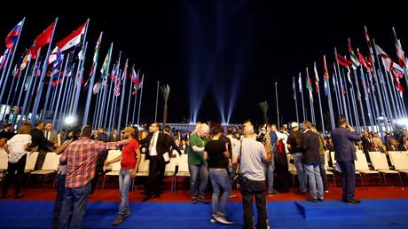 Eröffnungsfeier der 60.  Internationalen Messe in Damaskus, Syrien, 6. September 2018.