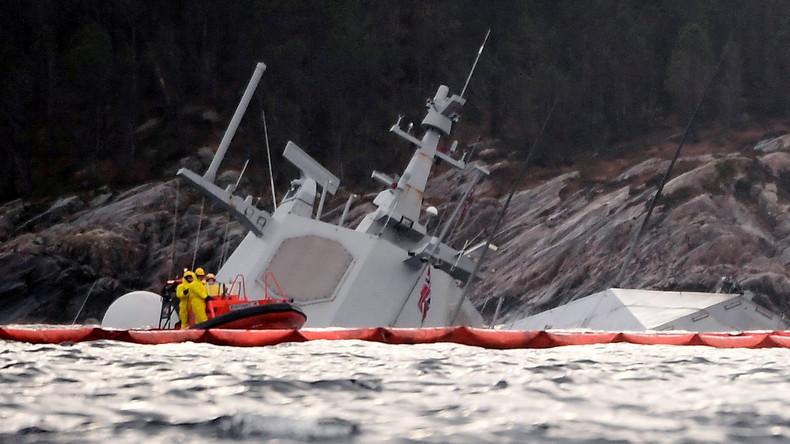 Nach dem NATO-Manöver: Kollidierte norwegische Fregatte wird zum U-Boot