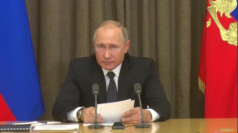 Putin zu INF-Drohung der USA: Werden zu Gegenmaßnahmen wie Überschallraketen gezwungen sein