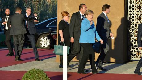 Bundeskanzlerin Angela Merkel bei ihrer Ankunft zur Konferenz in Marrakesch.