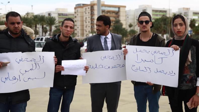 Libyen: Journalisten protestieren nach Ermordung des Ruptly-Kollegen Ben Khalifa