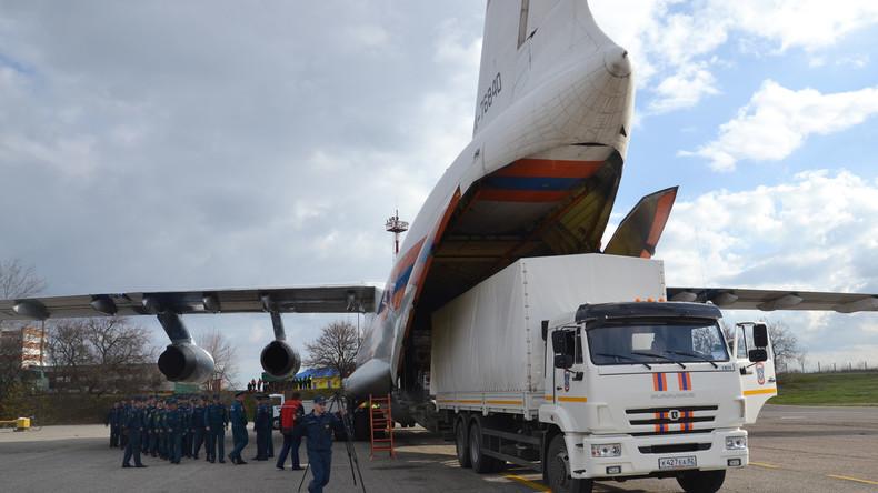 Venezuela: Russland liefert sieben Tonnen humanitäre Hilfsgüter